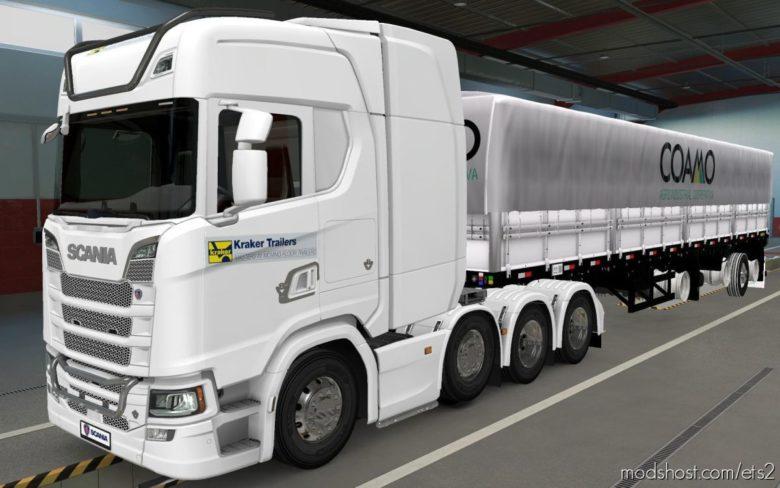 Skin Scania S 2016 8X4 Kraker Trailers [1.40] for Euro Truck Simulator 2