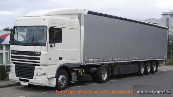DAF XF Open Pipe Sound Reworked V7.0 for Euro Truck Simulator 2