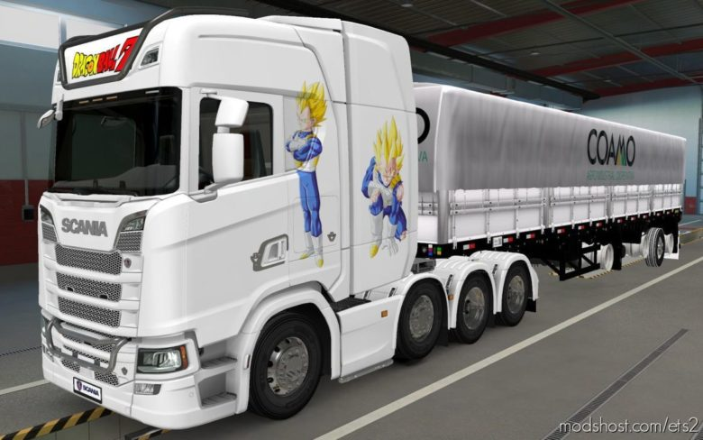 Skin Scania S 2016 8X4 Vegeta White [1.40] for Euro Truck Simulator 2