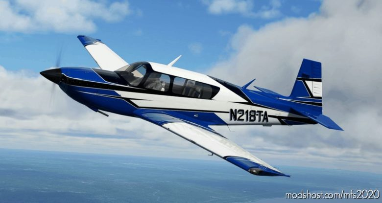 Mooney M20R Ovation – NEW Jagged Style [8K] – 2 Versions (Blue / RED) for Microsoft Flight Simulator 2020