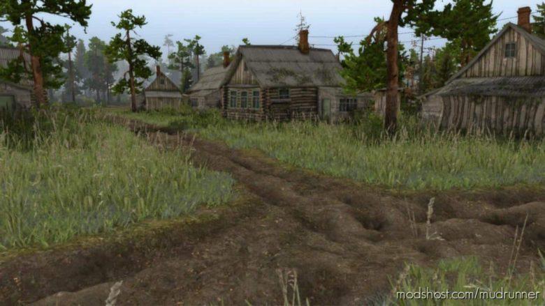 Village Map V1.7.1 for MudRunner