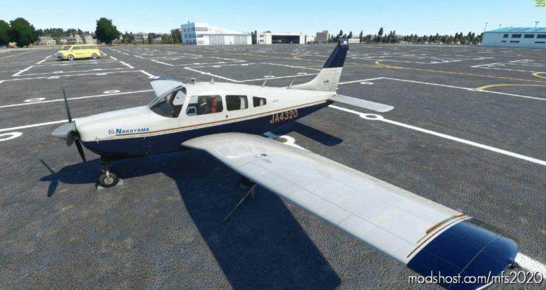 Justflight PA-28R Arrow III JA4320 From Japan (With Spiffy Kumamon Decal) for Microsoft Flight Simulator 2020