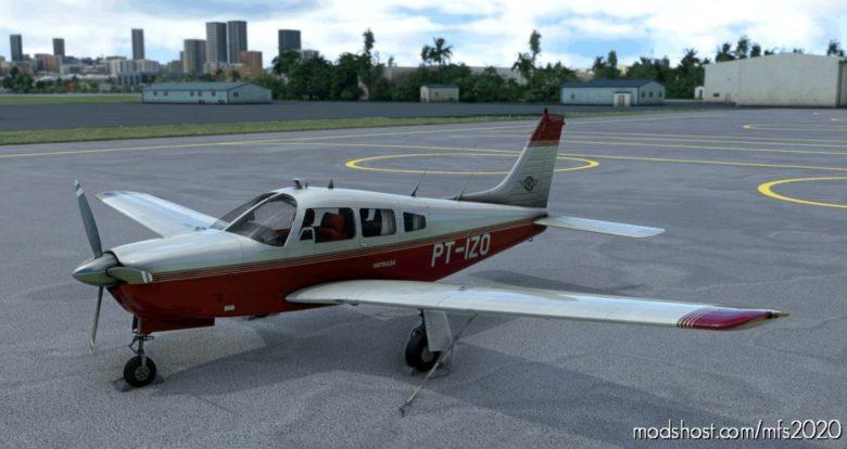 JF PA-28R Arrow III – Aeroclube DE SãO Paulo – Pt-Izo 4K Livery [Fictional] for Microsoft Flight Simulator 2020