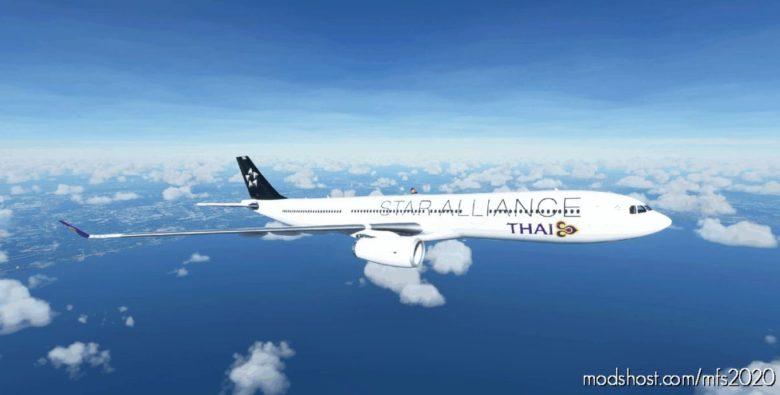 Airbus A330-300 Star Alliance – Thai Airways Livery for Microsoft Flight Simulator 2020