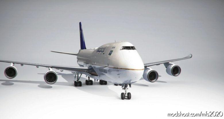 Boeing 747-8F Saudia Cargo (4K) – NO Logo Mirroring for Microsoft Flight Simulator 2020