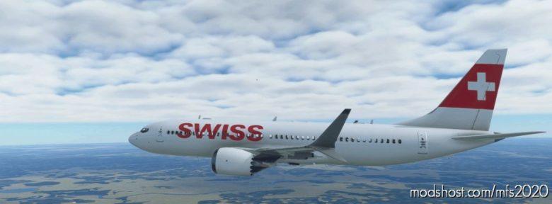 Swiss 737 MAX for Microsoft Flight Simulator 2020