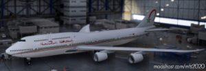 Boeing 747-8 BBJ Morocco Government (4K) – Mirroring for Microsoft Flight Simulator 2020