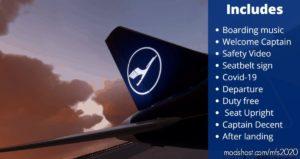 Lufthansa Cabin Sounds And Cabin Announcements V1.2 for Microsoft Flight Simulator 2020