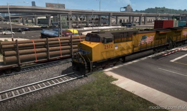 Long Trains Addon (UP To 150 Rail Cars) V3.6.Rev1.40 ATS for Euro Truck Simulator 2