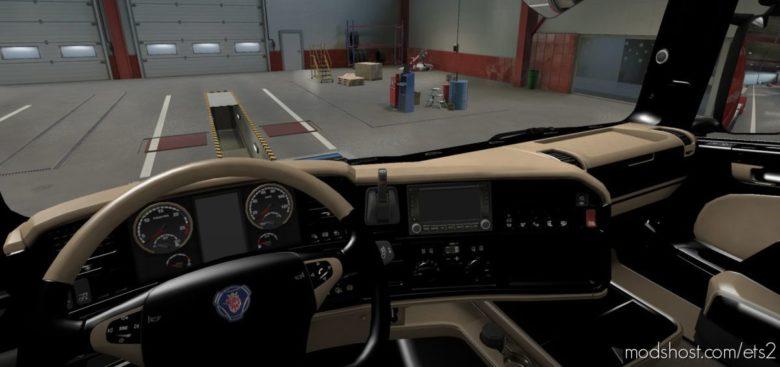 Scania R 2009 – Exclusive Beige Interior [1.40] for Euro Truck Simulator 2