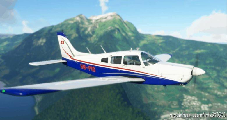 Justflight PA28R Arrow III – Hb-Pig NEW Livery for Microsoft Flight Simulator 2020