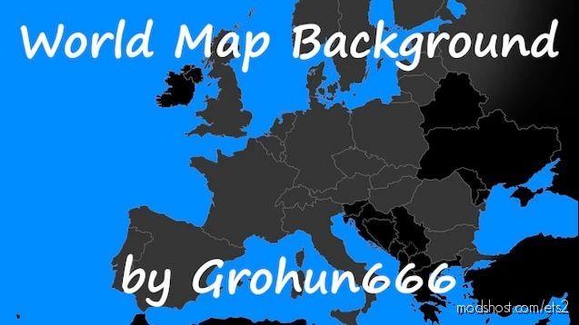 World Map Background [1.40] for Euro Truck Simulator 2
