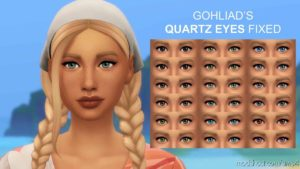 Gohliad's Quartz Eyes Fixed – Human Defaults for The Sims 4