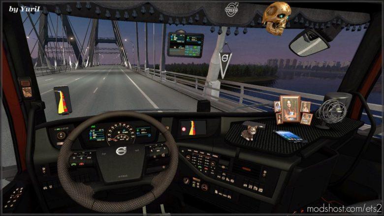 Dark Interior Volvo FH16 2012 V0.9 for Euro Truck Simulator 2