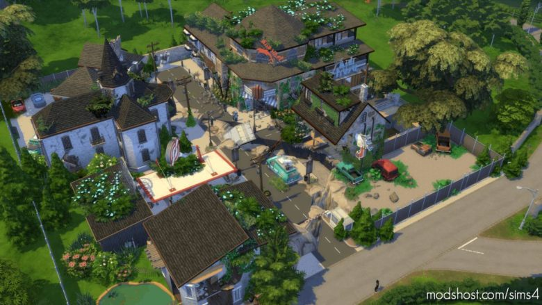 Full Apocalypse Town – 64×64 [NO CC] for The Sims 4