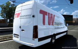 Skin Mercedes-Benz Sprinter 2021 TW Transportes [1.40] for Euro Truck Simulator 2