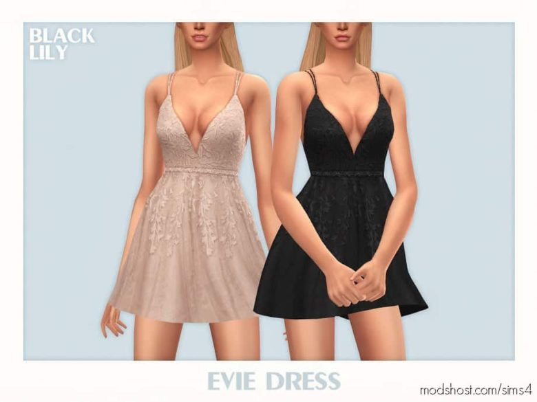 Evie Dress for The Sims 4
