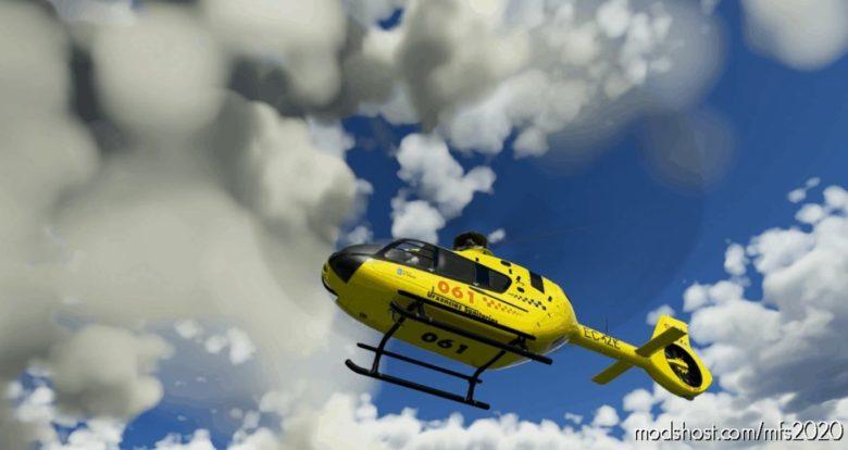 "Airbus H135|061 Urgencias Sanitarias ""Santiago DE Compostela"" Galicia |Ec-Ize for Microsoft Flight Simulator 2020"