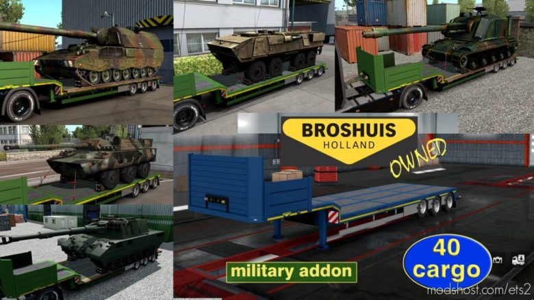 Military Addon For Ownable Trailer Broshuis V1.2.4 for Euro Truck Simulator 2