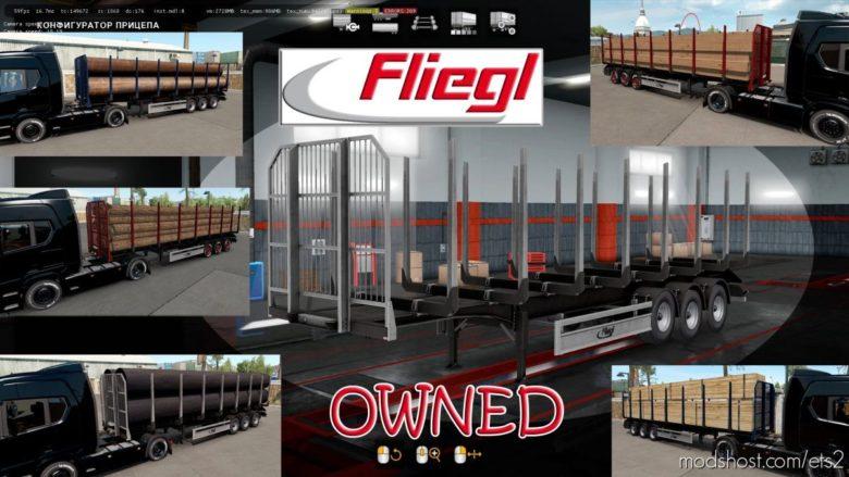 Ownable LOG Trailer Fliegl V1.0.5 for Euro Truck Simulator 2