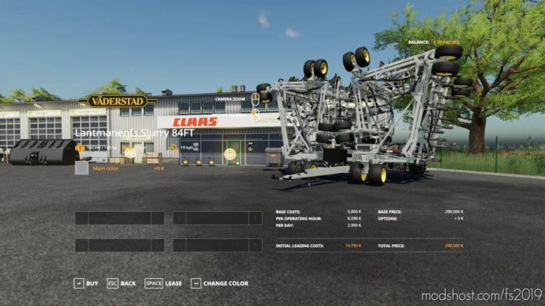 Slurry Drill 25.5M V1.3 for Farming Simulator 19