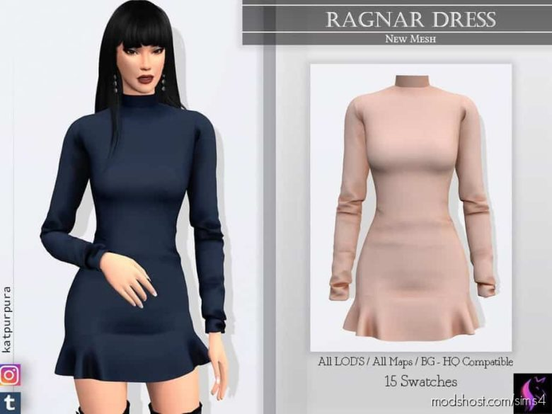 Ragnar Dress for The Sims 4