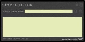 Simple Metar V0.1.0 for Microsoft Flight Simulator 2020
