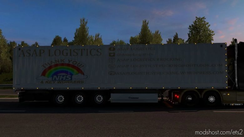 Asap Logistics Krone Trailer Skin Pack for Euro Truck Simulator 2