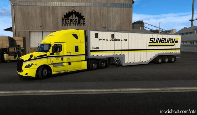 Sunbury Transport Cascadia And Chip VAN Combo for American Truck Simulator