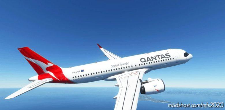 [A32NX] 8K Qantas (2016) NEW Livery for Microsoft Flight Simulator 2020