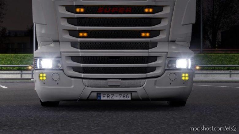Eyelids For RJL Scania for Euro Truck Simulator 2