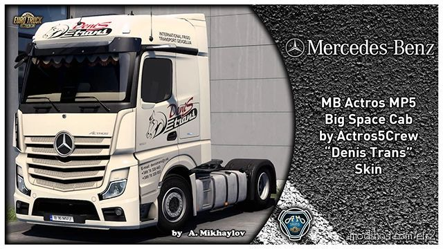 MB Actros MP5 Denis Trans Skin for Euro Truck Simulator 2