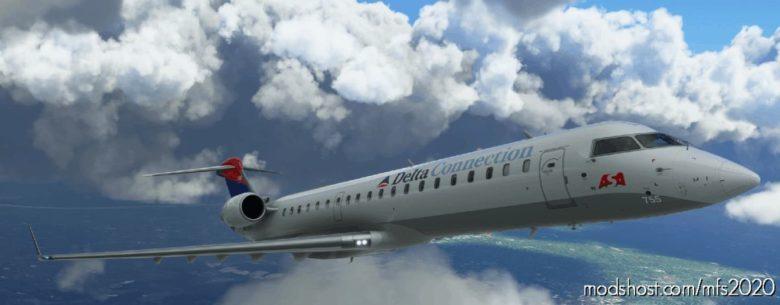 "Aerosoft Bombardier CRJ-700 Delta Connection ASA ""Colors In Motion"" for Microsoft Flight Simulator 2020"