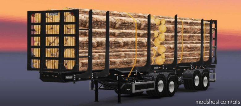 Metalesp Bi-Train Wood Transport 7 Axles V0.4.1 for American Truck Simulator
