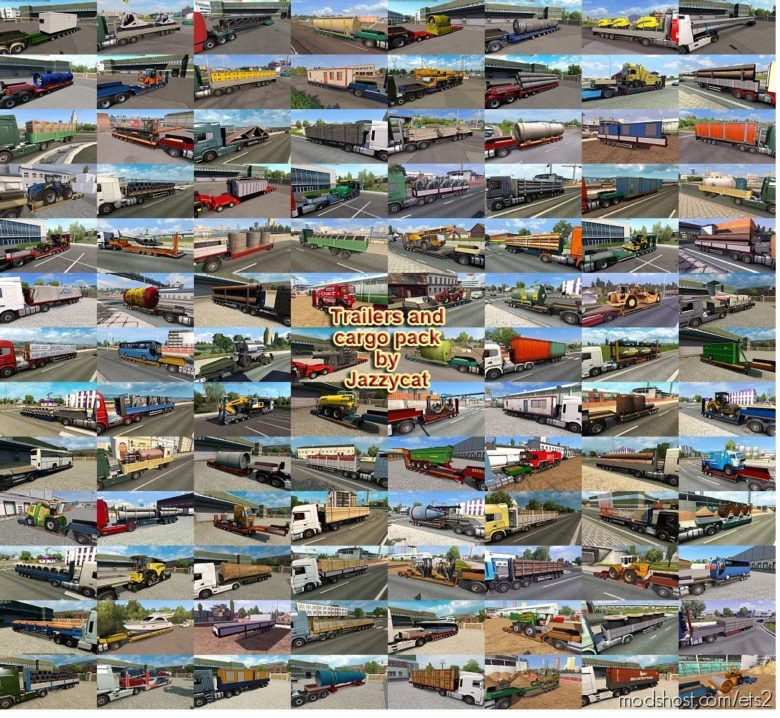 Trailers And Cargo Pack By Jazzycat V9.5.2 for Euro Truck Simulator 2