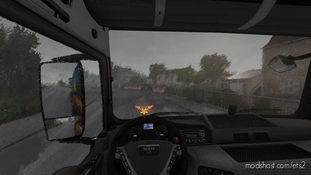 Realistic Heavy Rain V1.4 By Srinsane [1.40] for Euro Truck Simulator 2