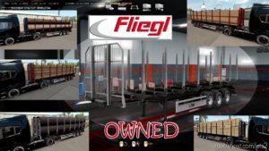 Ownable LOG Trailer Fliegl V1.0.6 for Euro Truck Simulator 2