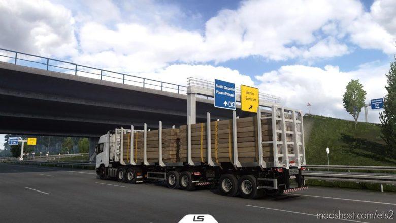Metalesp Bi-Train Wood Transport 7 Axles V0.4.1 for Euro Truck Simulator 2