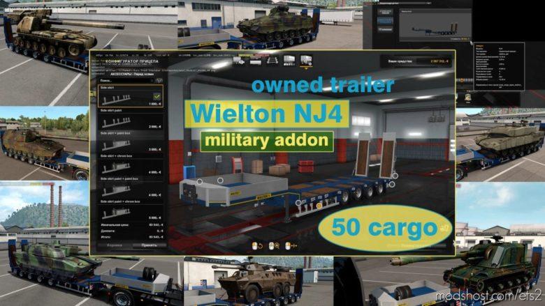 Military Addon For Ownable Trailer Wielton NJ4 V1.5.5 for Euro Truck Simulator 2