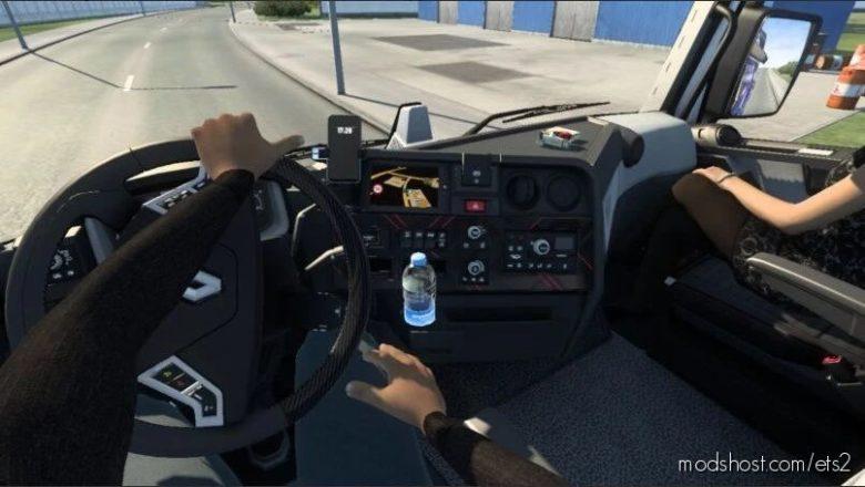 Animated Hands ON The Steering Wheel For ALL Trucks V1.10 for Euro Truck Simulator 2