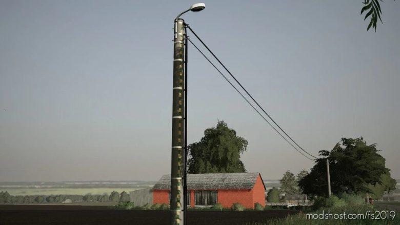 Concrete Electric Poles Pack (Prefab) for Farming Simulator 19