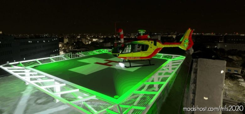 Heliport – CHU Pitié Salpêtrière – Charles Foix , Paris , France LF99 for Microsoft Flight Simulator 2020