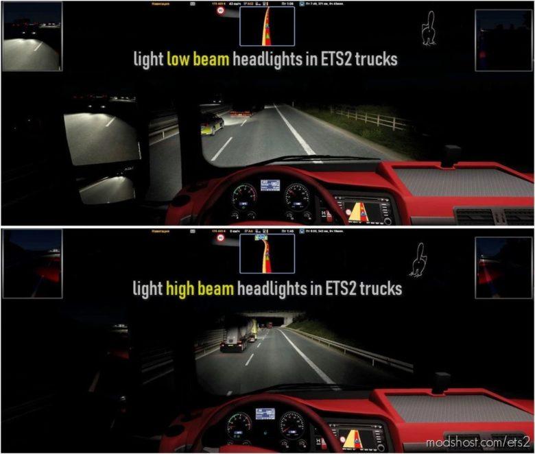 Light Headlight Change [1.40] for Euro Truck Simulator 2