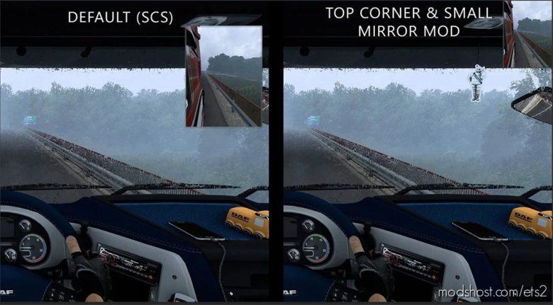 TOP Corner & Small Mirrors V1.2 [1.38 – 1.40] for Euro Truck Simulator 2