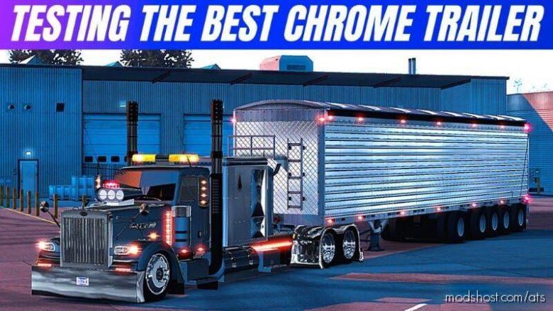 The Best Chrome Trailer DRO Vilkins [1.40 – 1.39] for American Truck Simulator
