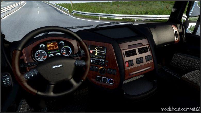 Dark Interior For DAF XF 105 V3.02 for Euro Truck Simulator 2