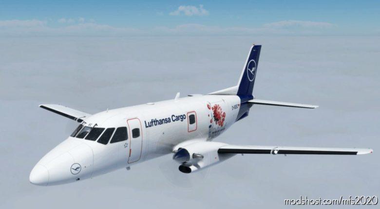 "Emb-110P1F Lufthansa Cargo D-Igec ""Vaccine 2021"" for Microsoft Flight Simulator 2020"