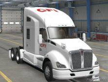 Kenworth T680 CFI White Truck Skin for American Truck Simulator