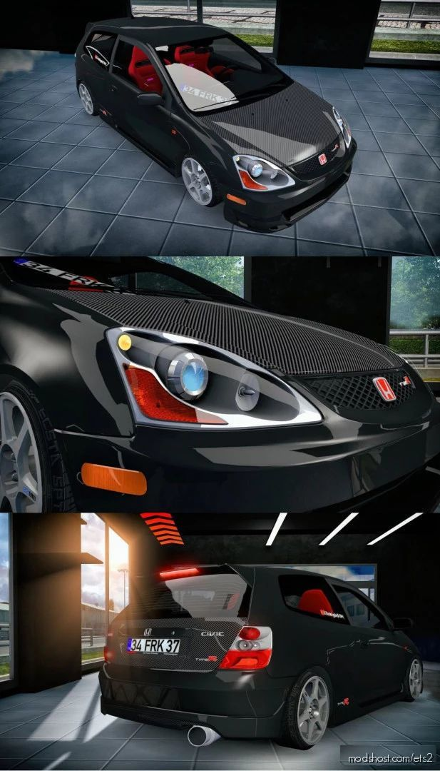 Honda EP3 Typer + Varex Sound [1.40] for Euro Truck Simulator 2