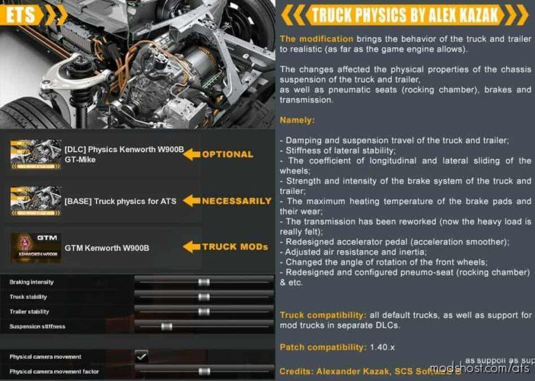 Truck Physics By Alex Kazak V0.2.3 for American Truck Simulator